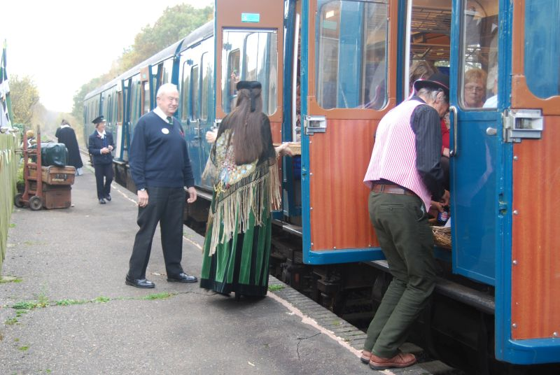 Passengers being greeted at Bow Station