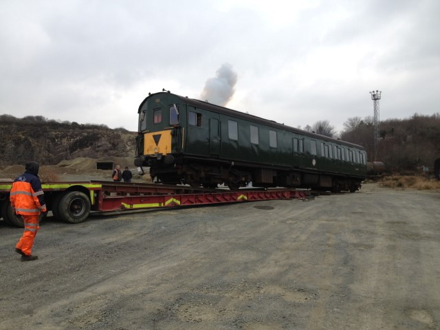 1132 on Low Loader at Meldon
