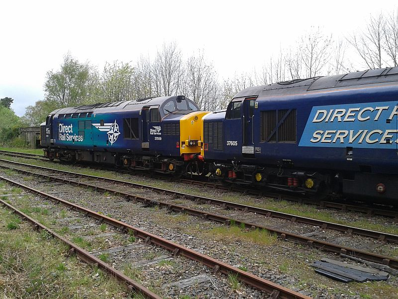 37059 and 37605 at Okehampton with the Devon Explorer