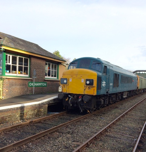 45060 'Sherwood Forester' at Okehampton