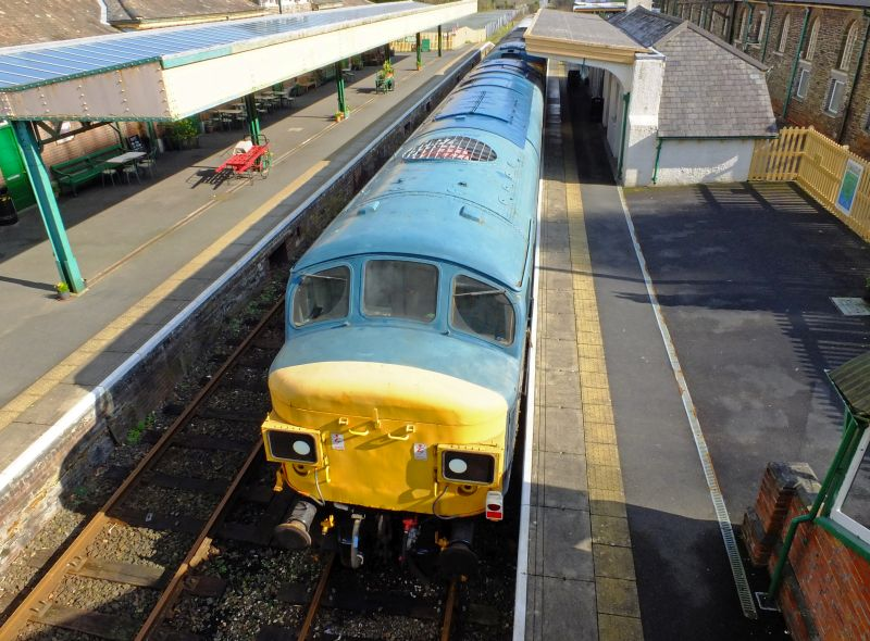 45060 'Sherwood Forester' in the sun shortly before leaving the DR after a successful winter here.