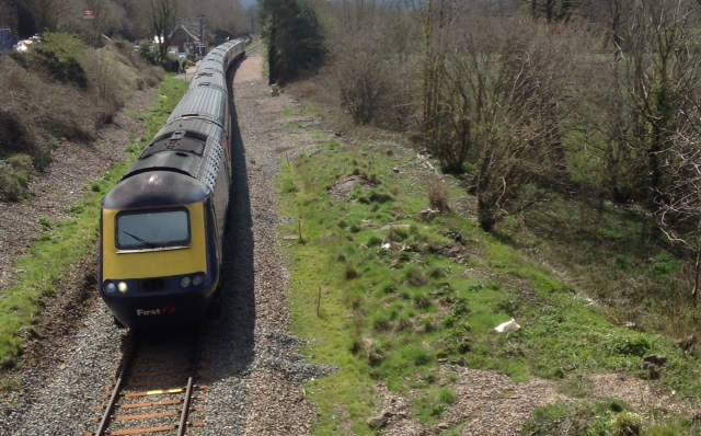 The first HST on the North Devon line since 13/04/2001 at Kings Nympton
