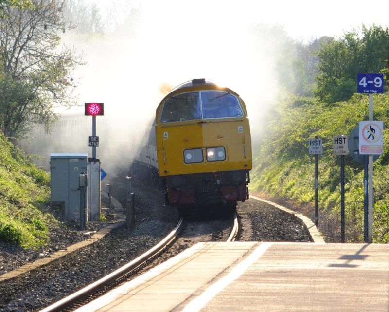 The Western Challenger railtour arriving at Crewkerne