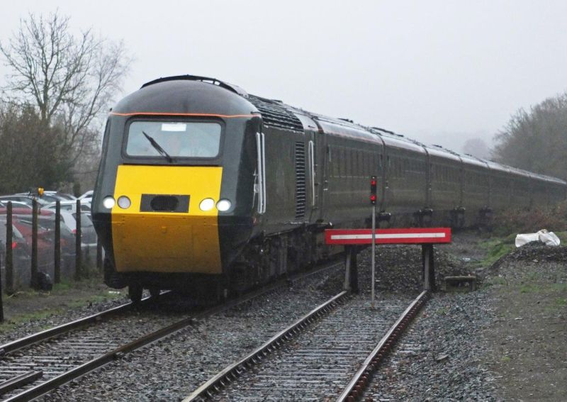 The Royal Oke HST arriving at Okehampton