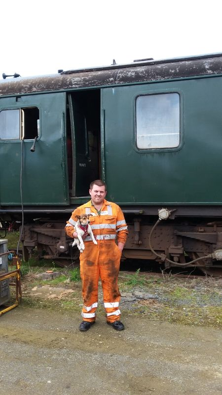Dartmoor Railway's Chief Mechanical Engineer, and his mate Julian.