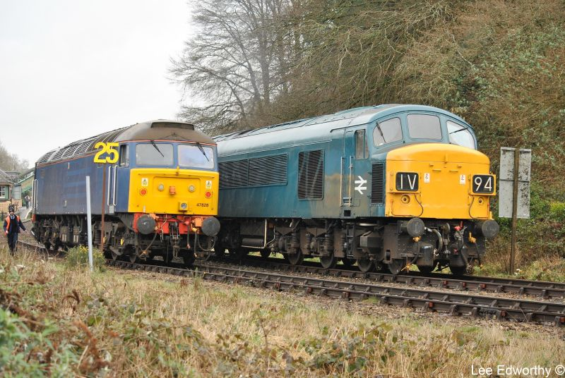 47828 and 45060 'Sherwood Forester' at Okehampton