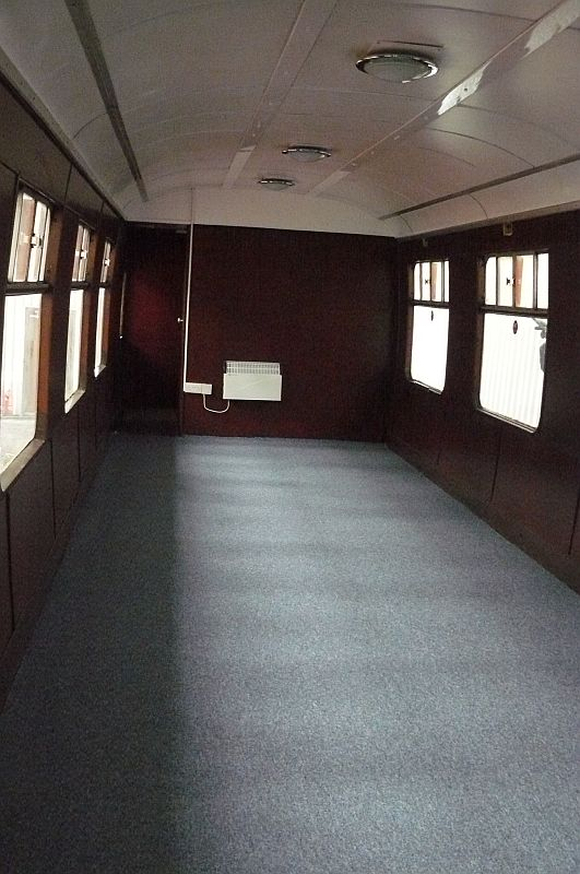 The saloon, now carpeted. Slippers only please.