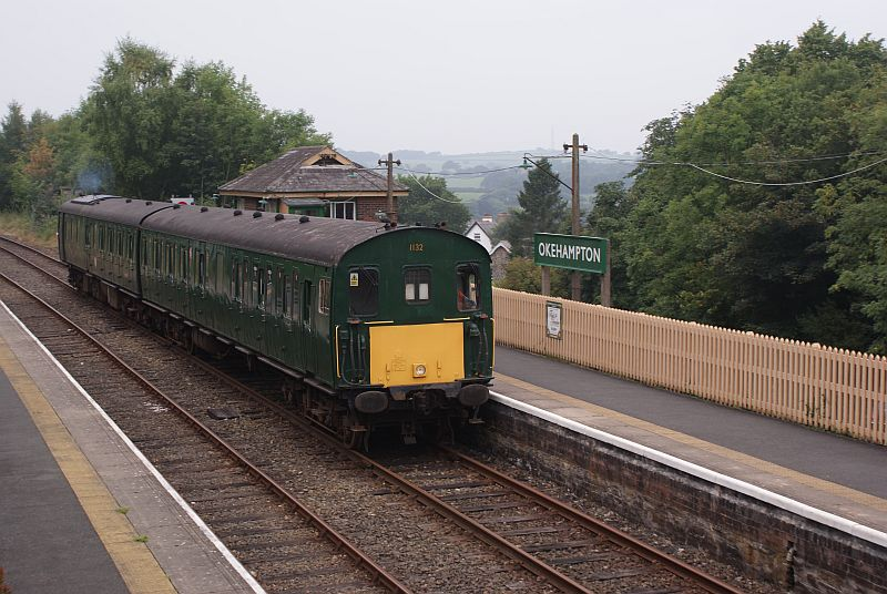 Thumper 1132/205032 arriving at Okehampton at the start of the day.