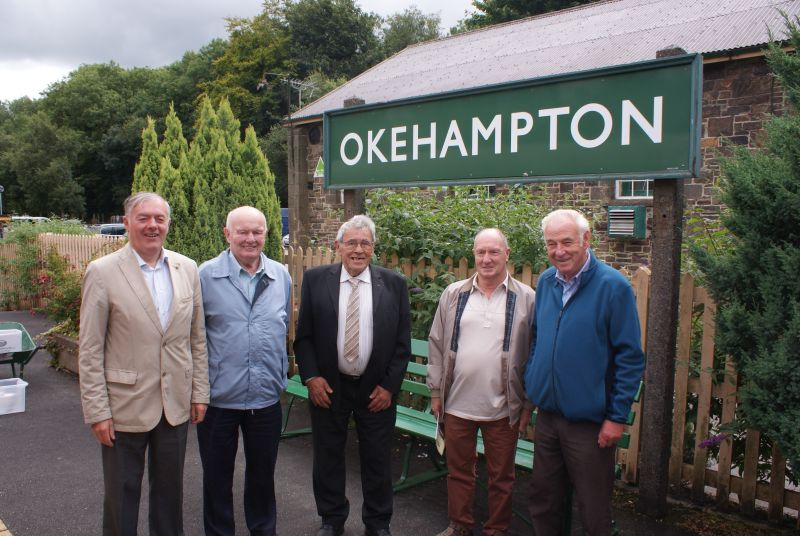 Former local railwaymen (l to r) Richard Westlake, Gerald Smallacombe, Les Glidden, Terry Midgley and Leonard Phare