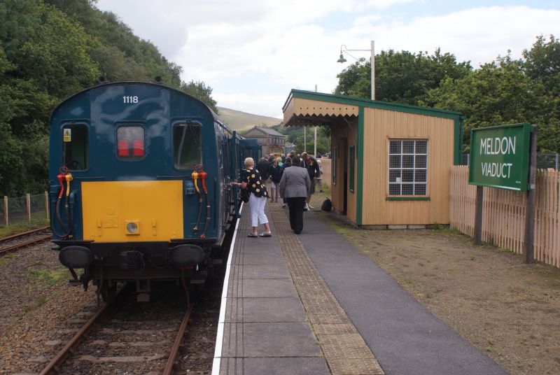 The guests disembark at Meldon