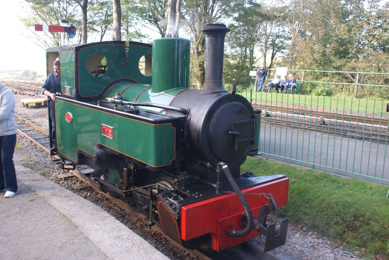 1915-built Kerr Stuart 'Joffre' class 0-6-0T 'Axe' at the Lynton & Barnstaple Railway's Autumn Steam Gala at Woody Bay