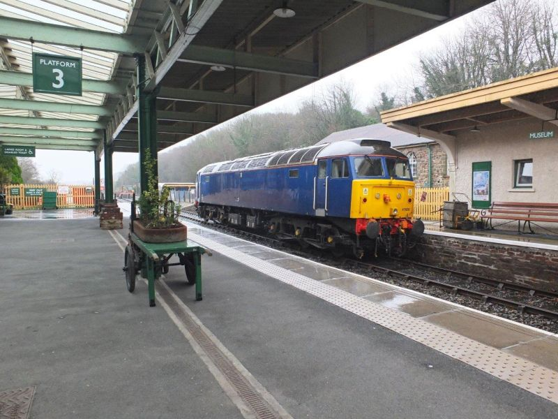 47828 at Okehampton during preparation for the Sulzer Weekend