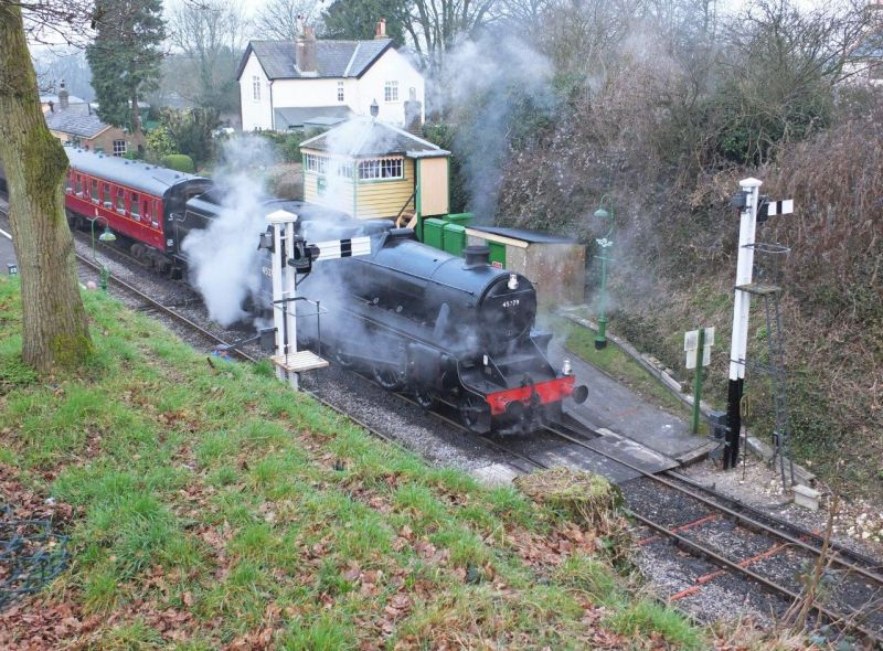 LMS Black 5 45379 at Medstead and Four Marks