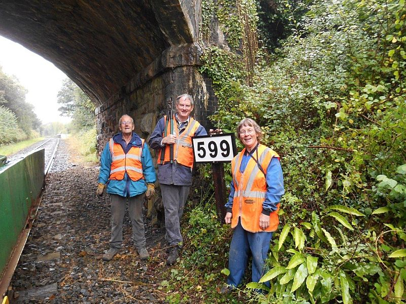 The lineside team at Sampford Courtenay