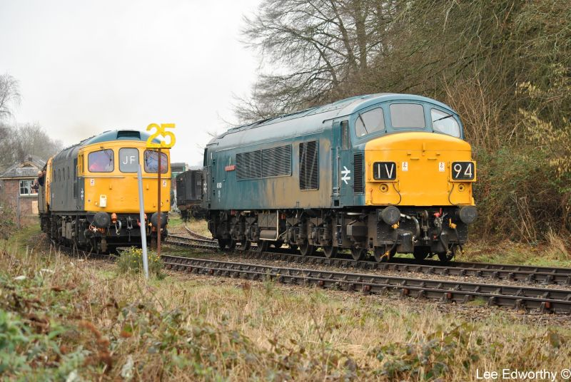 45060 'Sherwood Forester' and 33035 at Okehampton