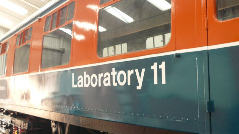 Laboratory 11 lettering now in place on one side