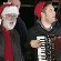 Renowned Devon folk singer Jim Causley (centre, with accordion) and, nearly as famous, DRSA's Peter Ritchie (DR woolly hat), performing at the North Pole