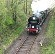 SR Merchant Navy pacific 35028 'Clan Line' between North Tawton and Sampford Courtenay.